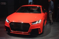 Attendees saw a red Audi model at the NYIAS event.