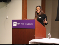 Speakers were invited to NYU for the Women Werk conference.