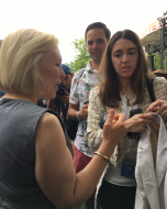 Kirsten Gillibrand stayed after her talk to meet Ozy Fest attendees.