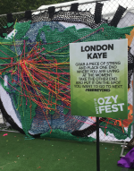Ozy Fest featured interactive art.