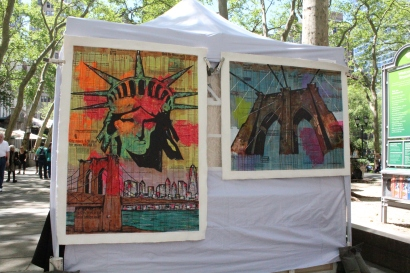 Artists came to Bryant Park on May 18 to sell their work.