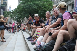 Friends attend The Dyke March together.