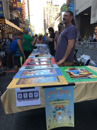 Several tables at Broadway Cares sold or auctioned off Broadway merchandise.
